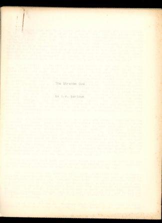 Strange God - Manuscript - -/- - VG - L.E. Barlowe