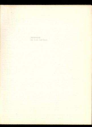 Wormwood - Manuscript - -/- - VG - L.E. Barlowe