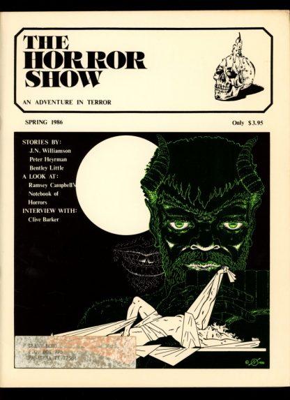Horror Show - VOL.4 NO.2 - SPRING/86 - VG-FN - Phantom Press
