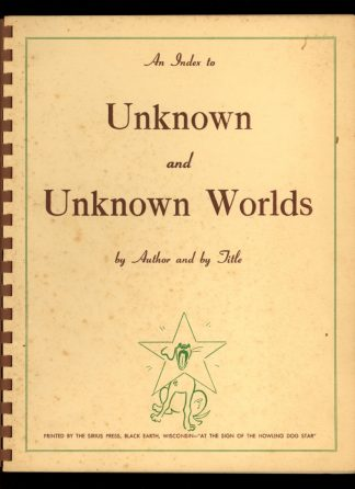 An Index To Unknown And Unknown Worlds - 1955 - -/55 - VG - Sirius Press