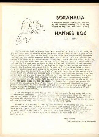 Bokanalia: A Memorial Portfolio Of Wonders - 15 PCS - -/70 - VG - Golden Gate Futurians
