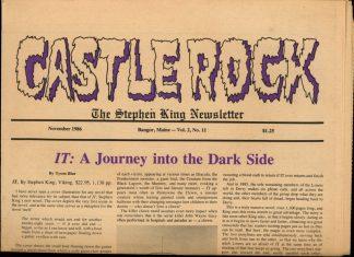 Castle Rock: The Stephen King Newsletter - 11/86 - 11/86 - VG - Castle Rock