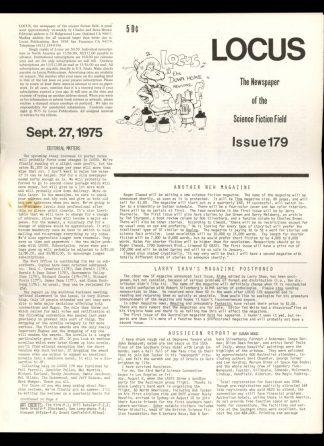 Locus - #179 - 09/27/75 - VG - Locus Publications