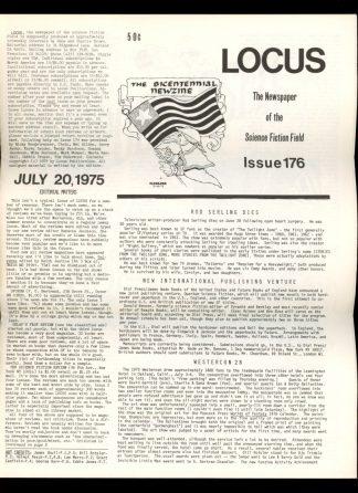 Locus - #176 - 07/20/75 - VG - Locus Publications