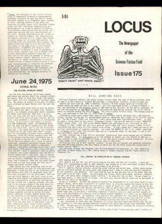Locus - #175 - 06/24/75 - VG - Locus Publications