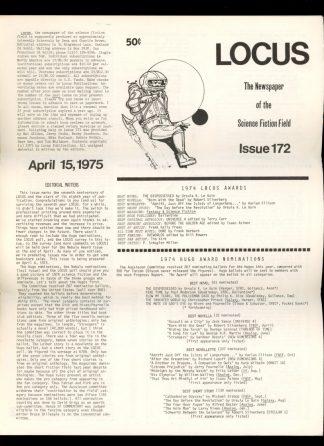 Locus - #172 - 04/15/75 - VG - Locus Publications