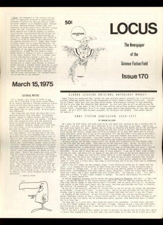 Locus - #170 - 03/15/75 - VG - Locus Publications