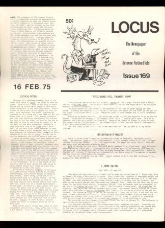 Locus - #169 - 02/16/75 - VG - Locus Publications