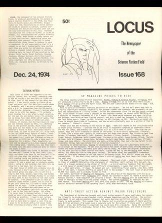Locus - #168 - 12/24/74 - VG - Locus Publications