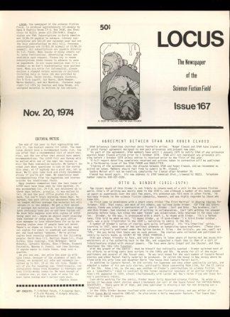 Locus - #167 - 11/20/74 - VG - Locus Publications