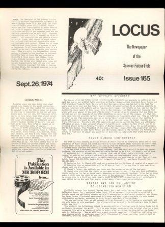 Locus - #165 - 09/26/74 - VG - Locus Publications