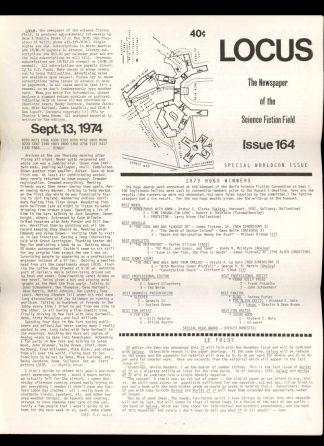 Locus - #164 - 09/13/74 - VG - Locus Publications