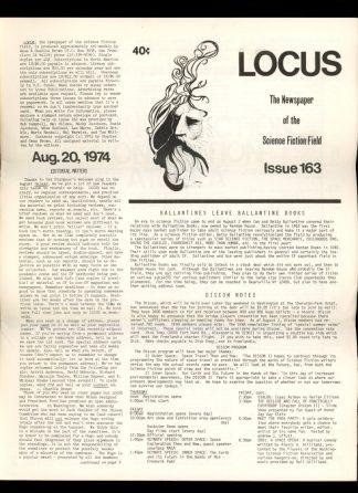 Locus - #163 - 08/20/74 - VG - Locus Publications