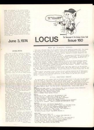 Locus - #160 - 06/03/74 - VG - Locus Publications
