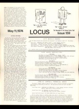 Locus - #159 - 05/11/74 - VG - Locus Publications