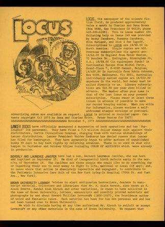 Locus - #150 - 11/10/73 - VG - Locus Publications