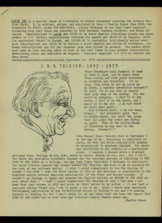 Locus - #149 - 09/14/73 - VG - Locus Publications
