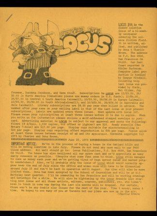 Locus - #144 - 06/23/73 - VG - Locus Publications