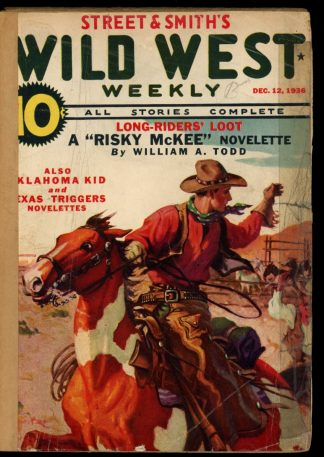 Wild West Weekly - 12/12/36 - Condition: FA - Street & Smith