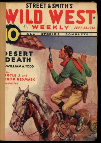 Wild West Weekly - 09/26/36 - Condition: FA - Street & Smith