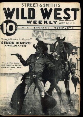 Wild West Weekly - 06/20/36 - Condition: PR - Street & Smith