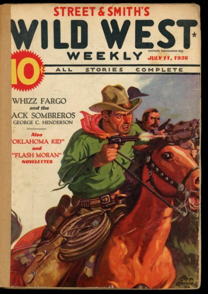 Wild West Weekly - 07/11/36 - Condition: FA - Street & Smith