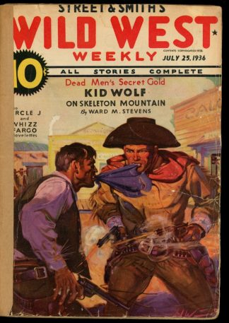 Wild West Weekly - 07/25/36 - Condition: FA - Street & Smith