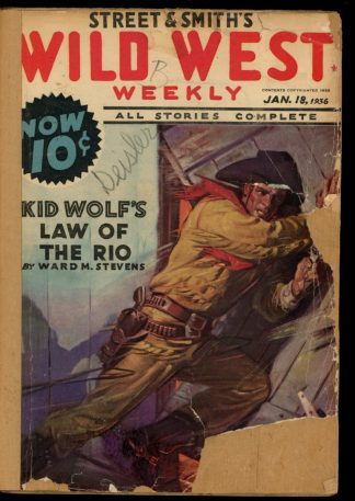 Wild West Weekly - 01/18/36 - Condition: FA - Street & Smith