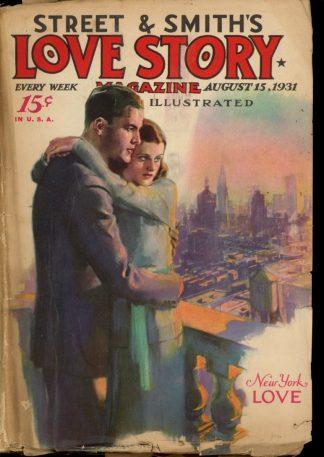 Love Story Magazine - 08/15/31 - Condition: G-VG - Street & Smith