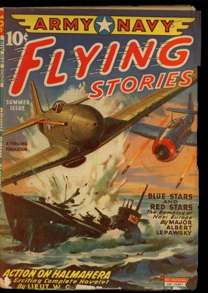 Army Navy Flying Stories - SUMMER/45 - Condition: VG - Thrilling