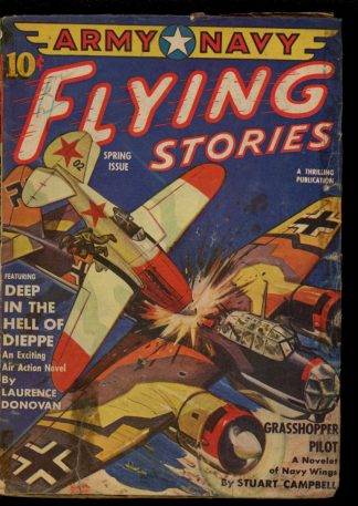 Army Navy Flying Stories - SPRING/43 - Condition: G - Thrilling