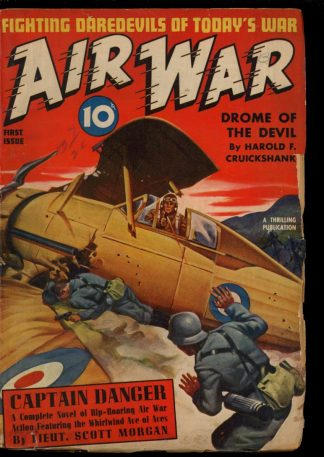 Air War - FALL/40 - Condition: G-VG - Thrilling
