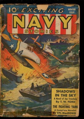 Exciting Navy Stories - WINTER/42 - Condition: FA-G - Thrilling