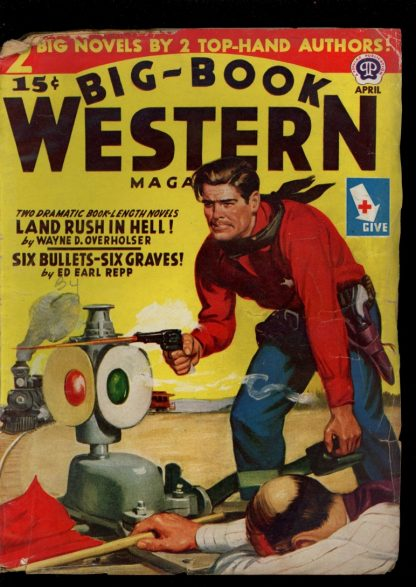 Big-Book Western Magazine - 04/45 - Condition: G-VG - Popular