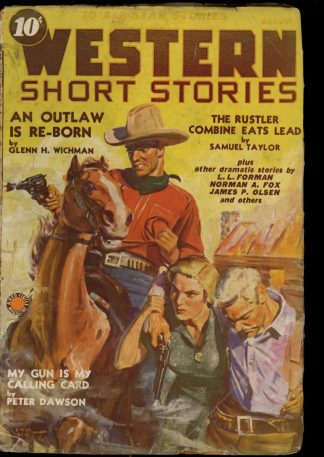 Western Short Stories - 08/39 - Condition: FA-G - Red Circle