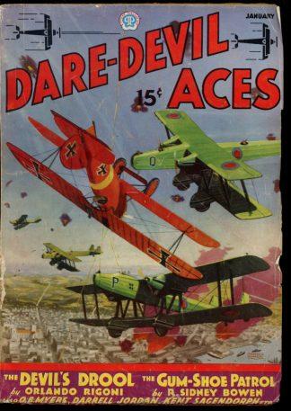 Dare-Devil Aces - 01/36 - Condition: G-VG - Popular