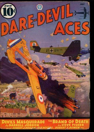Dare-Devil Aces - 07/36 - Condition: G-VG - Popular
