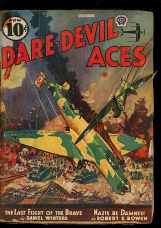 Dare-Devil Aces - 10/40 - Condition: G - Popular