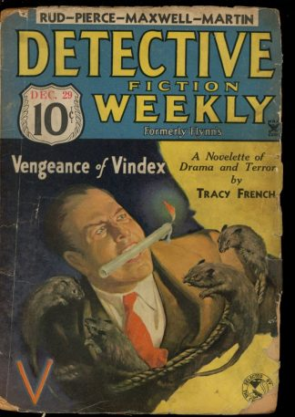 Detective Fiction Weekly - 12/29/34 - Condition: FA-G - Munsey