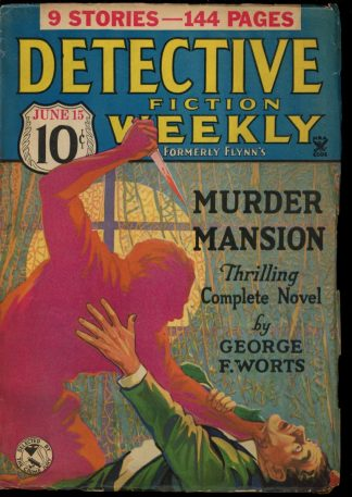 Detective Fiction Weekly - 06/15/35 - Condition: G-VG - Munsey