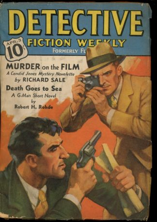 Detective Fiction Weekly - 04/03/37 - Condition: G-VG - Munsey