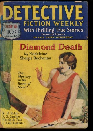 Detective Fiction Weekly - 06/28/30 - Condition: FA - Munsey