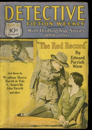 Detective Fiction Weekly - 09/14/29 - Condition: G-VG - Munsey
