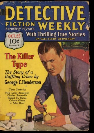 Detective Fiction Weekly - 10/25/30 - Condition: G - Munsey