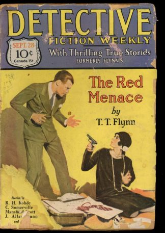 Detective Fiction Weekly - 09/28/29 - Condition: FA-G - Munsey