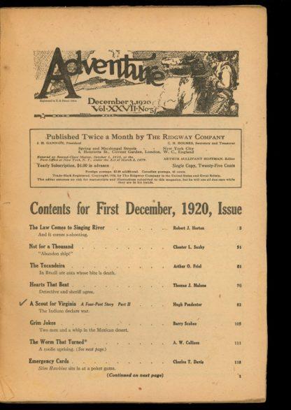 Adventure - 12/03/20 - Condition: FA - Ridgway