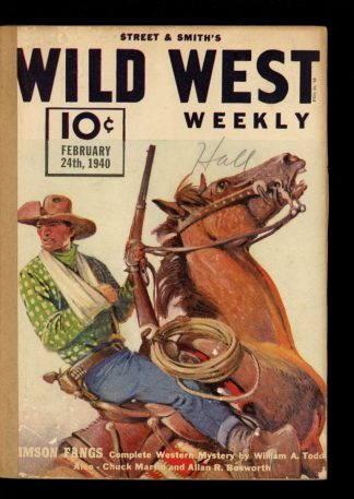 Wild West Weekly - 02/24/40 - Condition: FA - Street & Smith