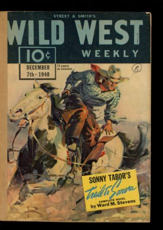 Wild West Weekly - 12/07/40 - Condition: FA - Street & Smith