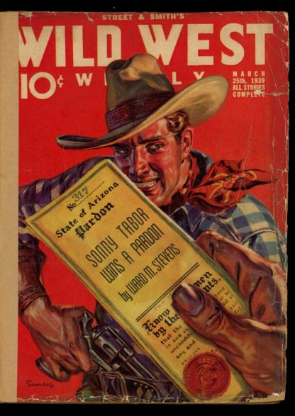 Wild West Weekly - 03/25/39 - Condition: FA - Street & Smith