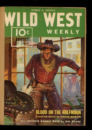 Wild West Weekly - 08/17/40 - Condition: FA - Street & Smith